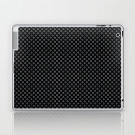 Black and Dark Shadow Polka Dots Laptop & iPad Skin