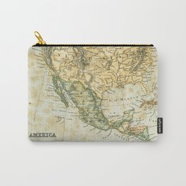 North America Vintage Encyclopedia Map Carry-All Pouch
