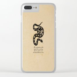Franz Kafka - Mediation by the Serpent Clear iPhone Case