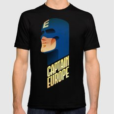 Captain Europe X-LARGE Black Mens Fitted Tee