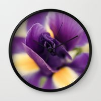 iris Wall Clocks featuring Iris by Light Wanderer