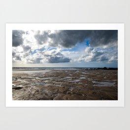 Clouds Over Bude Beach - Bude, England Art Print