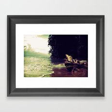 Salty Sunsest Framed Art Print