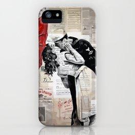 Famous kiss iPhone Case