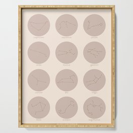 Zodiac Constellations - Neutral Blush Serving Tray
