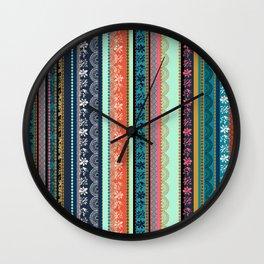 Bohemian Tribal Stripe Wall Clock