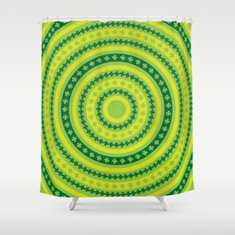 Clover Rings Pattern Shower Curtain