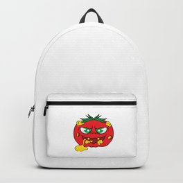 """""""Toxic tomato"""" tee design. Creepy and freaky shirt perfect to mock your friends this holiday!  Backpack"""