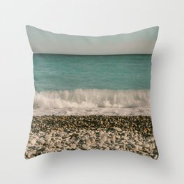 Water Waves at the Beach Cutest Pattern Throw Pillow