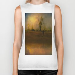A Tree And A Cross Biker Tank