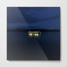Ferry at dusk Metal Print