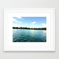 oregon Framed Art Prints featuring oregon by Renee Louise