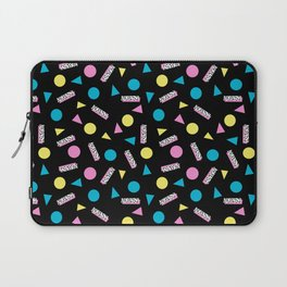 Max Out - abstract memphis minimal colorful neon bright happy shapes geometric 1980s 80s retro Laptop Sleeve