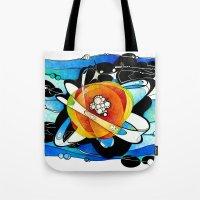 big bang Tote Bags featuring Big Bang by Raluca Mitarca