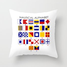 Nautical Alphabet Throw Pillow