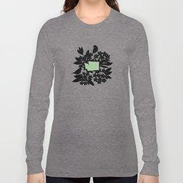 Washington - State Papercut Print Long Sleeve T-shirt