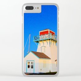 Summerside Harbour lighthouse Clear iPhone Case