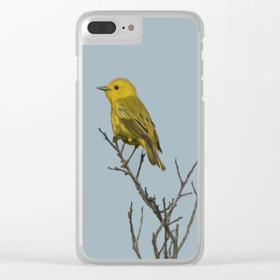 Yellow Warbler Clear iPhone Case