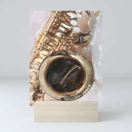 Saxophone, sound of life Mini Art Print