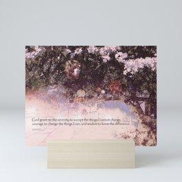 Serenity Prayer Blossoms and Lanterns Mini Art Print