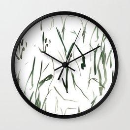 grass forms Wall Clock