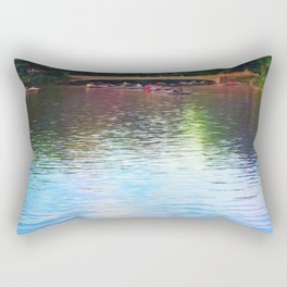 Central Park Boats on Rainbow Waters Rectangular Pillow