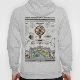 Sphere Armillaire - Astronomical and Cosmographical Chart Hoody