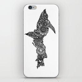 Upper Peninsula of Michigan; black & white iPhone Skin
