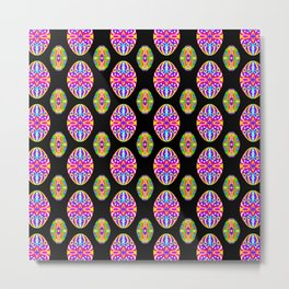 Bright Easter Egg Pattern Eastern Europe Design Style Metal Print