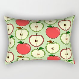 Green and Red Apple Pattern Rectangular Pillow