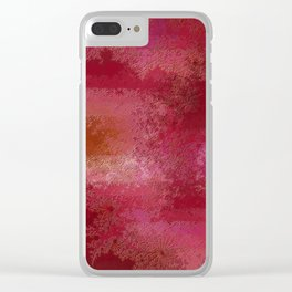 Pink and Red Moon Clear iPhone Case