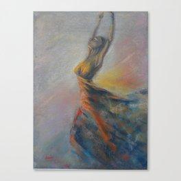 Dancing woman. Ballerina. Dancer Canvas Print