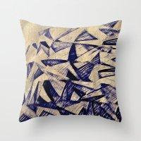 planes Throw Pillows featuring Paper Planes by Fernando Vieira