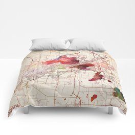 Madison map Comforters