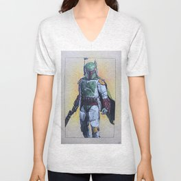 Boba Fett bounty hunter (Episode V-VI) Unisex V-Neck