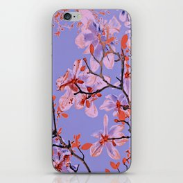 Copper Flowers on violett ground iPhone Skin