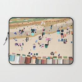 Geometric Brighton Beach bathing boxes, Melbourne, Australia Laptop Sleeve