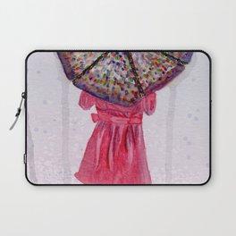 Girl in Purple Wellies Laptop Sleeve