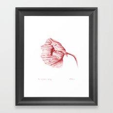 the neighbour's poppy - red Framed Art Print