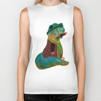 squirrel Biker Tanks featuring squirrel by Hadar Geva