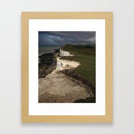 White cliffs of Beachy Head Framed Art Print