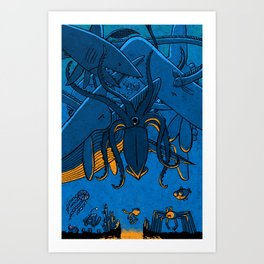 Falling (Deep Sea) Art Print