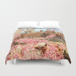 The Roses of Heliogabalus by Sir Lawrence Alma-Tadema Duvet Cover