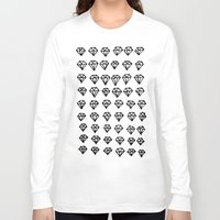 diamonds Long Sleeve T-shirts featuring Diamonds by Geryes