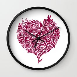 Love from the heart - The right way of life is love 愛由心生 - 愛了就對了 Wall Clock
