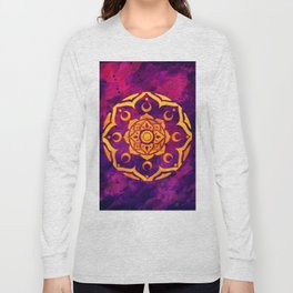 """Witchcraft""  WATERCOLOR MANDALA (HAND PAINTED) BY ILSE QUEZADA Long Sleeve T-shirt"