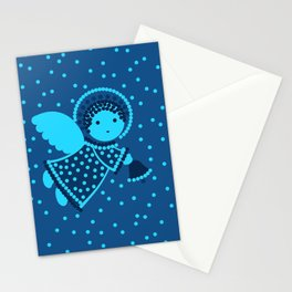 Angels on the deep blue Stationery Cards