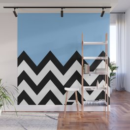 BLUE COLORBLOCK CHEVRON Wall Mural