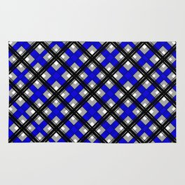 Combo black blue plaid Rug