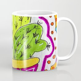 Aztec Cactus in pot Coffee Mug